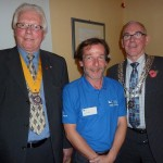 Chris Sturgeon of RSPB with President David and VP Sam