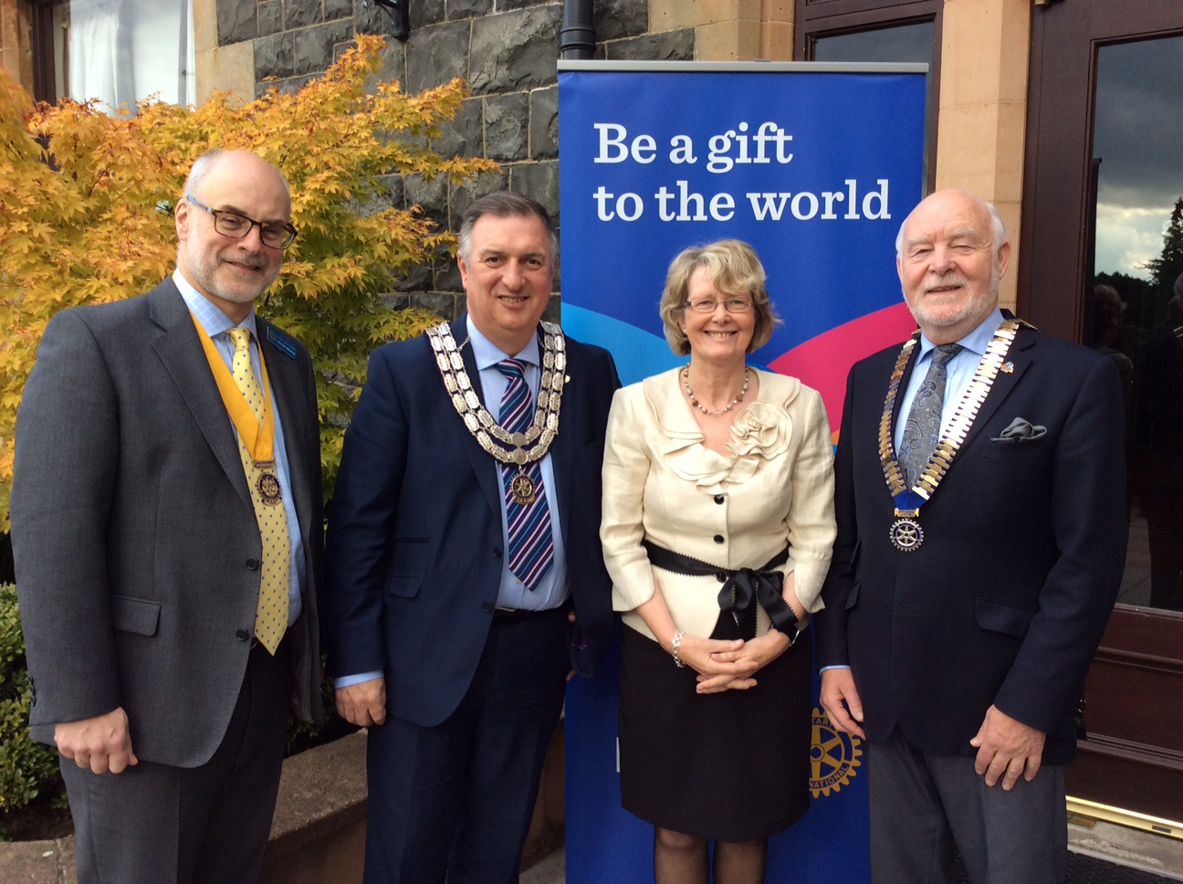 DG Declan and his wife Pat with President Gary and VP Donald
