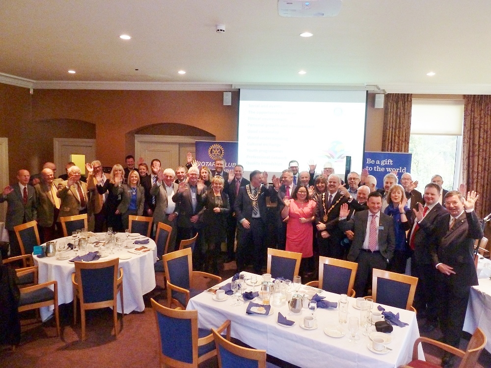 Members and Guests at Special lunch with theMayorof Lisburn and Castlereagh Thomas Becket13/11/15